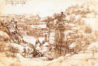Leonardo,Paesaggio