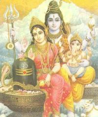 Shri Shiva, Shri Parvati, shri Ganesha