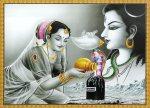 Parvati worships Shiva