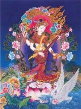 Sarasvati playing veena