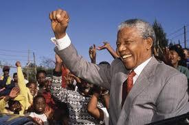 Mandela tra i suoi sostenitori
